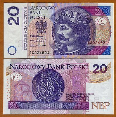 Poland, 20 Zlotych, 2016 (2017), P-184-New, New Sig., UNC