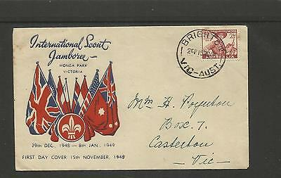 Australia Fdc First Day Cover ~ 1949 Scout Jamboree Wonga Park Victoria