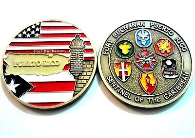 FORT BUCHANAN Joint Active ARMY RESERVE NG CARIBBEAN Challenge Coin Puerto Rico