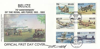 (00339) Belize FDC RAF Royal Air Force SIGNED 1 Apr 1993 NO INSERT
