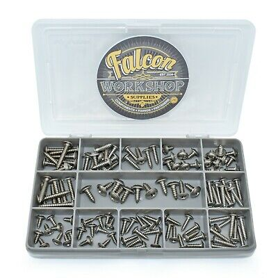 110 ASSORTED 6g 8g 10g STAINLESS STEEL FLANGE POZI PAN SELF TAPPING SCREWS KIT