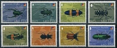 "LAOS N°1457/1464** ""PhilaKorea"" (Corée du Sud) Insectes, 2002,  Insects set MNH"