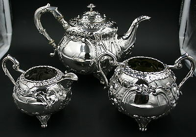 Good Quality 3 piece  silver tea set Bangkok Thailand