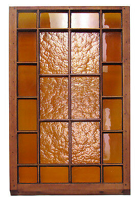 "1880's - 22 Panel Stain Glass Window - 51 1/2"" X 29 3/4"""