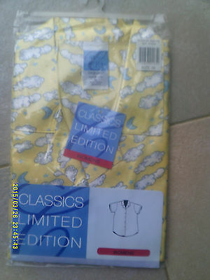 "New Ladies/womens ""classics Limited Edition""  Yellow Satin Nightie Size  20"