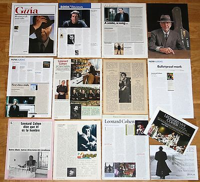 LEONARD COHEN clippings 1970s/00s photos magazine articles cuttings