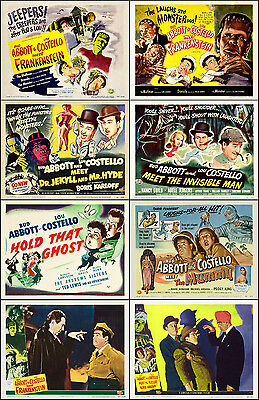 ABBOTT And COSTELLO SPECIAL Lot Of 8 Assorted 11x14 LC TC HS Prints MONSTERS