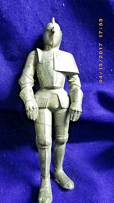 Vintage Metal Gray Mid Evil  Knight, Suit of Armor Lighter Collectible 8 1/2""