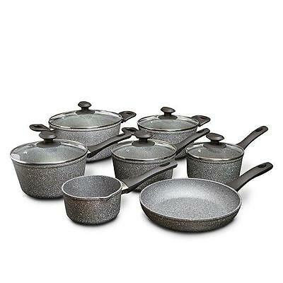 Hairy Bikers 7 Piece Non-Stick Marble Pan Set Kitchen Cookware Essentials