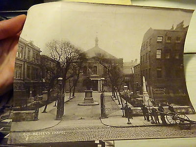 Pair of Large Antique Photo Albumen Prints Wesley's Chapel London