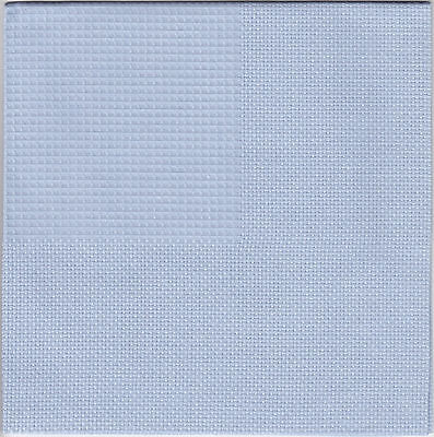 "Set of 4 Light Blue Cottage Napkins  - 15 x 15"" - Zweigart"
