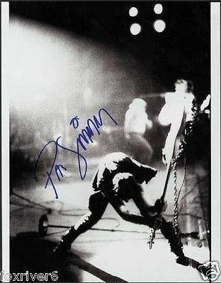 THE CLASH Signed Photograph - Punk Rock Band Paul Simonon - preprint