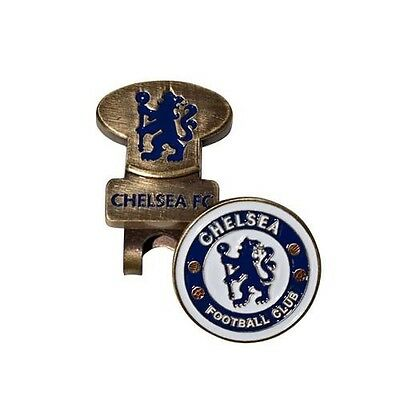 Chelsea Football Club Crest Golf Ball Marker & Hat Clip with Free UK P&P