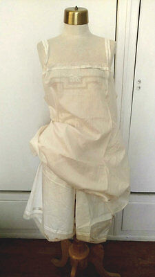 Edwardian French Cami Kickers Undergarment Batiste Chemise Bloomers