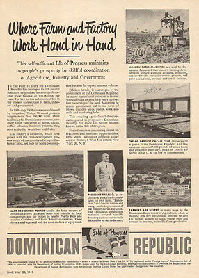 1949 vintage travel promotional AD the DOMINICAN REPUBLIC under Trujillo 071516