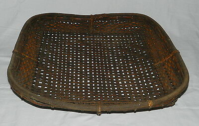 OLD PHILIPPINES CANE BASKET - Original