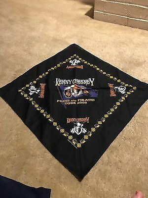 Kenny Cheney 2008 Poets And Pirates Scarf 22 X 22 Inch