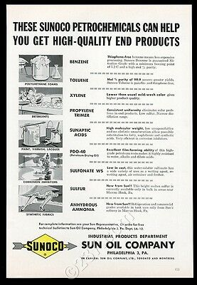 1946 Sunoco Sun Oil industrial chemicals vintage print ad