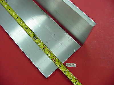 """2 pieces 1/2"""" X 6"""" ALUMINUM 6061 FLAT BAR 17"""" long SOLID T6511 PLATE Mill Stock"""