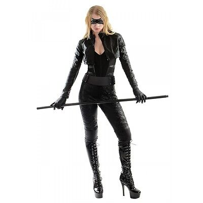 Black Canary Costume Adult Female Superhero Arrow Halloween Fancy Dress