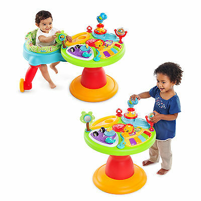 Bright Starts 3 In 1 Around We Go Activity Center Walker Toddler Play Table Seat