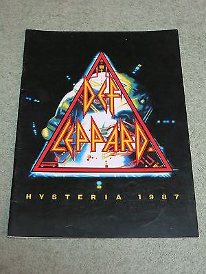 DEF LEPPARD Hysteria 1987 Tour Programme!