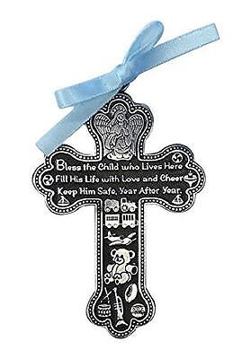 New Baby Boy Guardian Angel CRIB CROSS Keepsake Christening Baptism Shower Gift