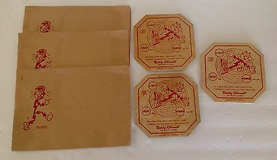 6 Vintage REDDY KILOWATT, the mightly atom Advertising pieces, one lot