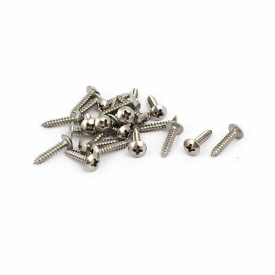M3x14mm Thread 316 Stainless Steel Truss Phillips Head Self Tapping Screw 25pcs