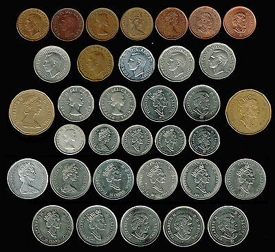 CANADA:- 34 different, Special issues & Varieties, 20th century coins. ADP5712