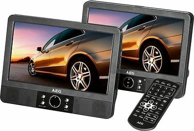 LUXUS AEG AUTO DVD PLAYER 2 x 9 ZOLL MONITOR KOPFHÖRER USB MP3 CARD 43908060