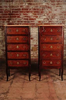 Pair of Beautiful 19th Century Louis VI French Lingerie  Chests w/Marble top