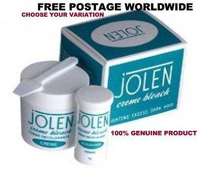 GENUINE Jolen Cream Bleach Lightens Dark Facial Hair Creme CHOOSE QUANTITY