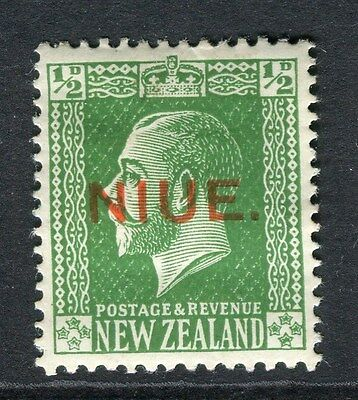 NIUE;  1918 early NZ GV surcharged issue Mint hinged 1/2d. value