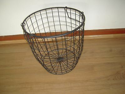 decorative wire basket - 2 handles - black / bin