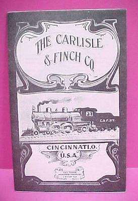 Vintage 1911 CARLISLE & FINCH Toy Train Catalog / Re-Issued 1968 / Ex Cond.
