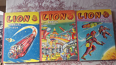 1954 1955 1956 Lion Annual - Good Condition - 56 Not Price Clipped