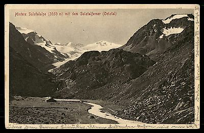 Hintere Sulztalalpe old town mountain winter view postcard