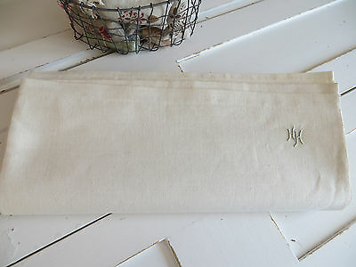 """Unused   White of Cream  Linen Sheet 63 """" by 96 """"Mono HH EXCELLENT  CONDITION"""