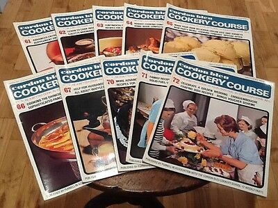 Vintage Cordon Bleu Cookery Course Weekly Instalments Recipes 61-72 1960s 1970s
