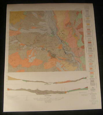 Pinal County Sonora Boyd Heights Arizona 1922 vintage color Geology map