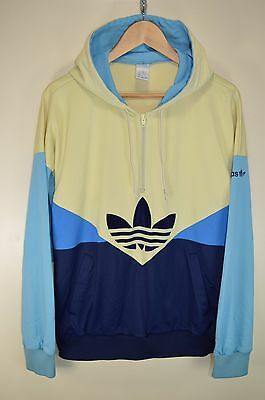 vtg 80s ADIDAS COLORADO HOODIE TRACK JACKET TRACKSUIT TOP CASUALS size D52 LARGE