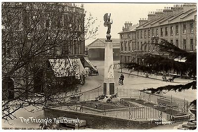 Rare Real Photo Postcard Victory Figure-War Memorial-New Barnet-Station Canopy