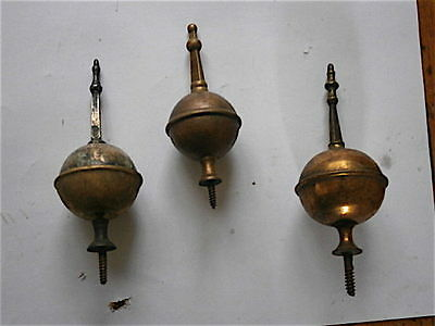 3 C1780 s BRASS CLOCK SPIRE FINIALS