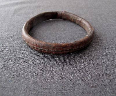 Antique African Tuareg Niger Leather Arm Bracelet