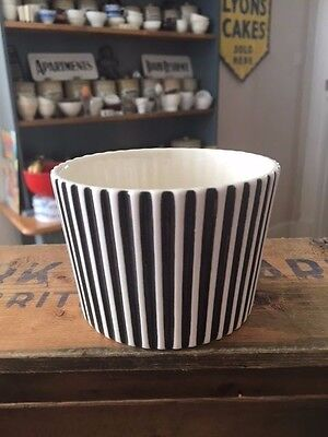 Vintage Hornsea Summit Black & White Sugar Bowl – John Clappison – Retro! –