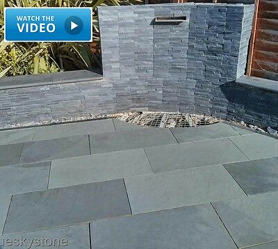 Brazilian Grey Slate Paving Patio & Garden Slabs - 5.30m2 - 80x40cm - Sample
