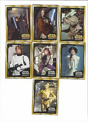 2005 Star Wars Episode 3, 4, 5, 6 Kudos Trading 13-Card Set