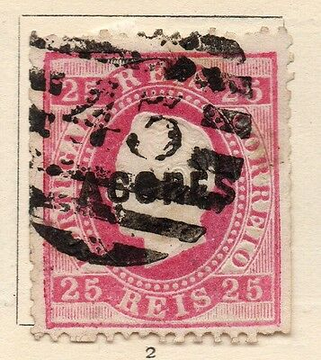 Azores 1880s Early Issue Fine Used 25c. Optd 153933
