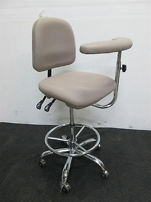 "Dental Doctor & Assistant Stool in Tan Ultraleather Upholstery - 22""-29"" Height"